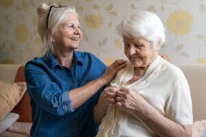 caring for senior with middle stages of dementia