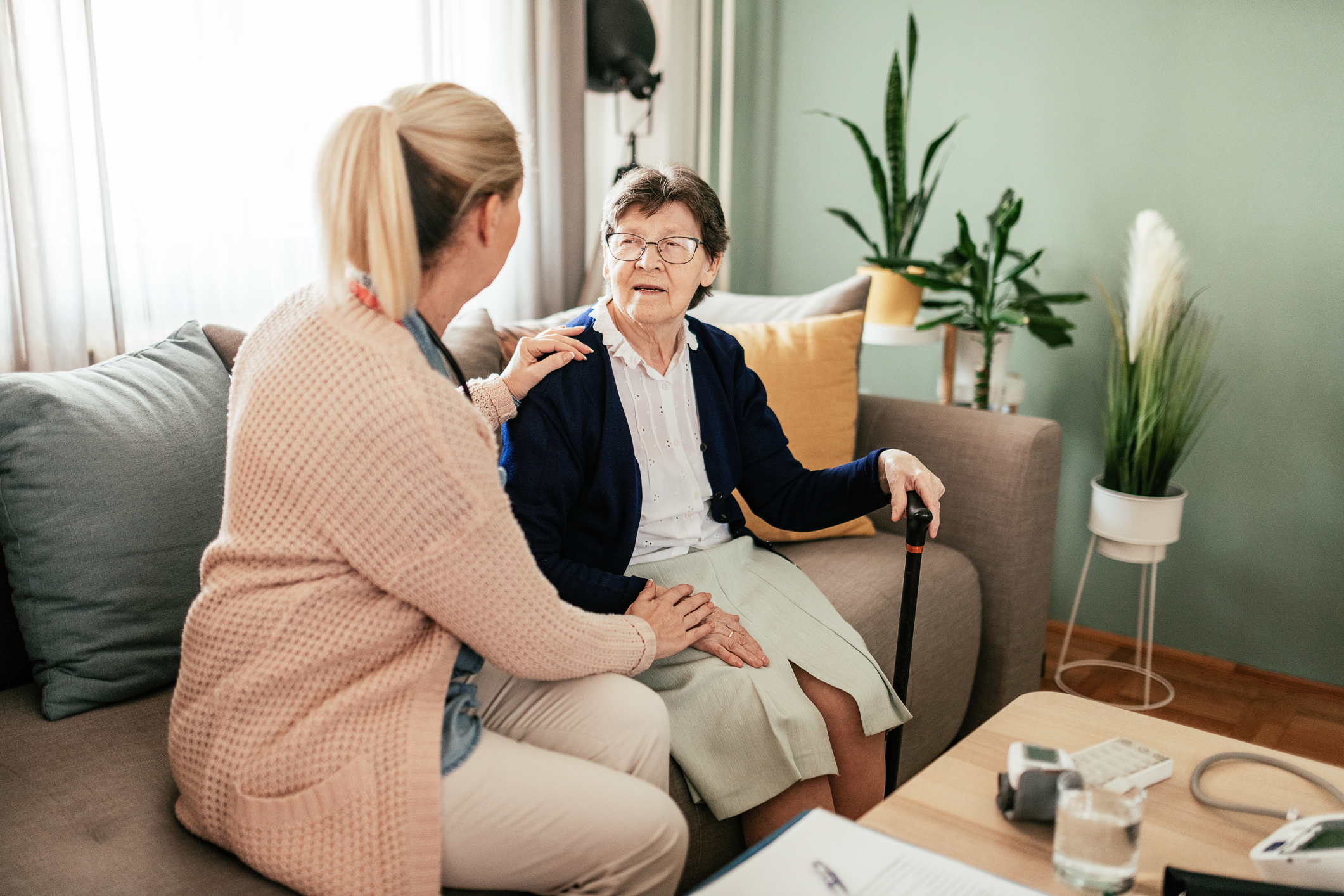 For seniors coping with long-term illness, home care can help.